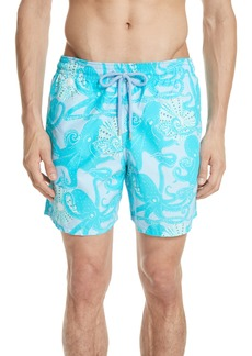 Vilebrequin Octopus Coquillage Print Swim Trunks