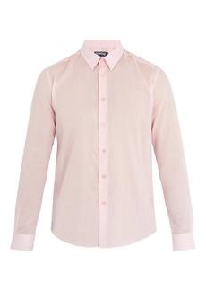 Vilebrequin Point-collar cotton-voile shirt