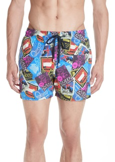 Vilebrequin Queen Tour Print Swim Trunks