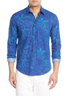 Vilebrequin Regular Fit Turtle Print Sport Shirt