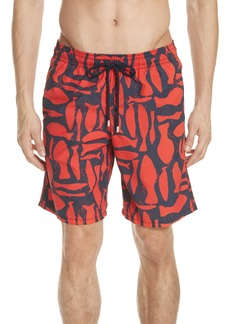Vilebrequin Silex Fish Print Swim Trunks