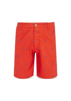 Vilebrequin Slim Fit Turtle Embroidered Bermuda Shorts