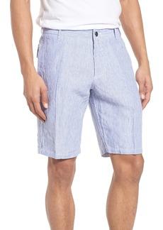 Vilebrequin Stripe Linen Bermuda Shorts