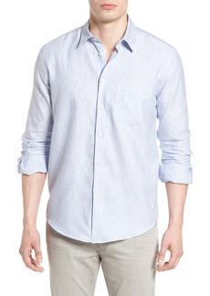 Vilebrequin Stripe Linen Blend Sport Shirt