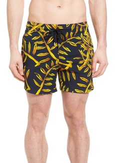 Vilebrequin Superflex Gold Palms Print Swim Trunks
