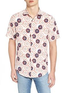 Vilebrequin Tailor Fit Floral Print Silk Shirt