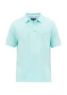 Vilebrequin Turtle-embroidered cotton-piqué polo shirt