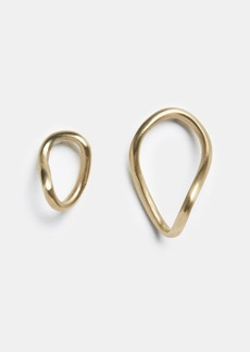 Vince 8.6.4 / Stud Twisted Hoop Earrings