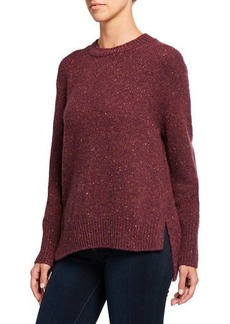 Vince Long Sleeve Alpaca-Blend Asymmetric Pullover