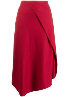 Vince asymmetric draped flannel skirt