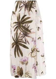 Vince asymmetric floral print skirt