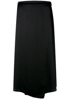 Vince asymmetric midi skirt