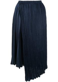 Vince asymmetric pleated skirt
