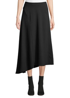 Vince Asymmetric Seamed Midi Skirt