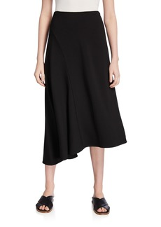 Vince Asymmetric Seamed Midi Skirt