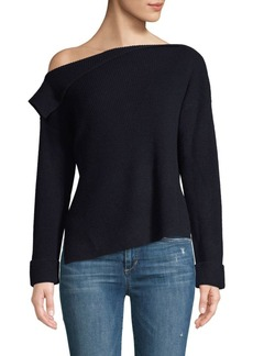 Vince Asymmetrical Ribbed Pullover