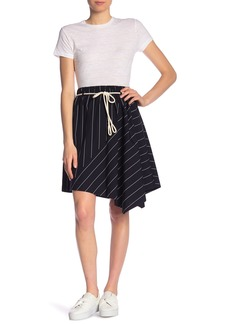 Vince Asymmetrical Stripe Skirt