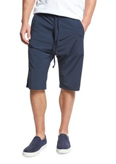 Vince Athletic Drop-Rise Stretch-Nylon Shorts
