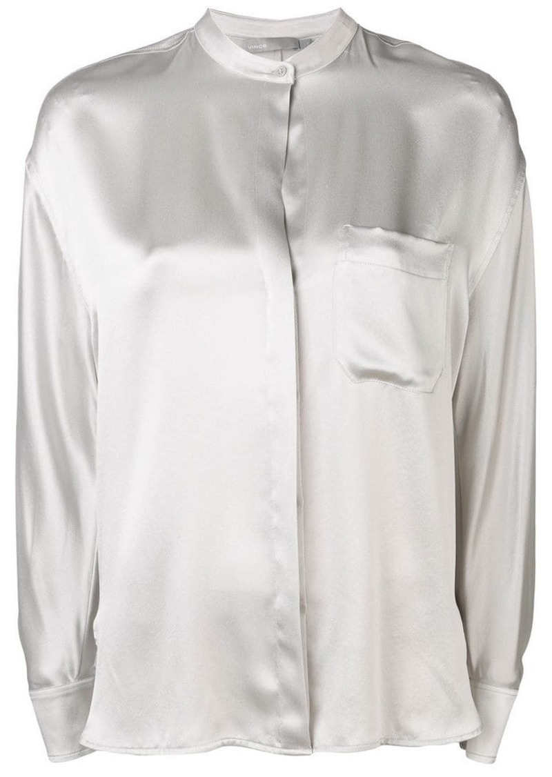Vince band collar shirt