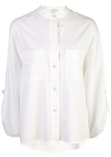 Vince band collar wide shirt