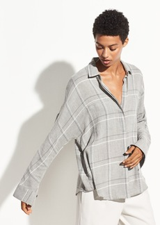 Vince Bar Plaid Popover
