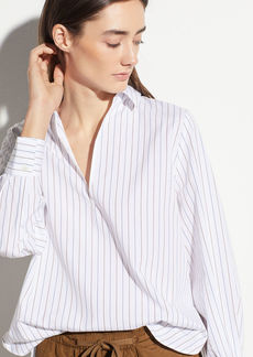Vince Bar Stripe Swing Front Pullover