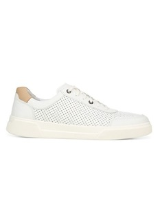 Vince Barnett-3 Perforated Silk & Leather Sneakers