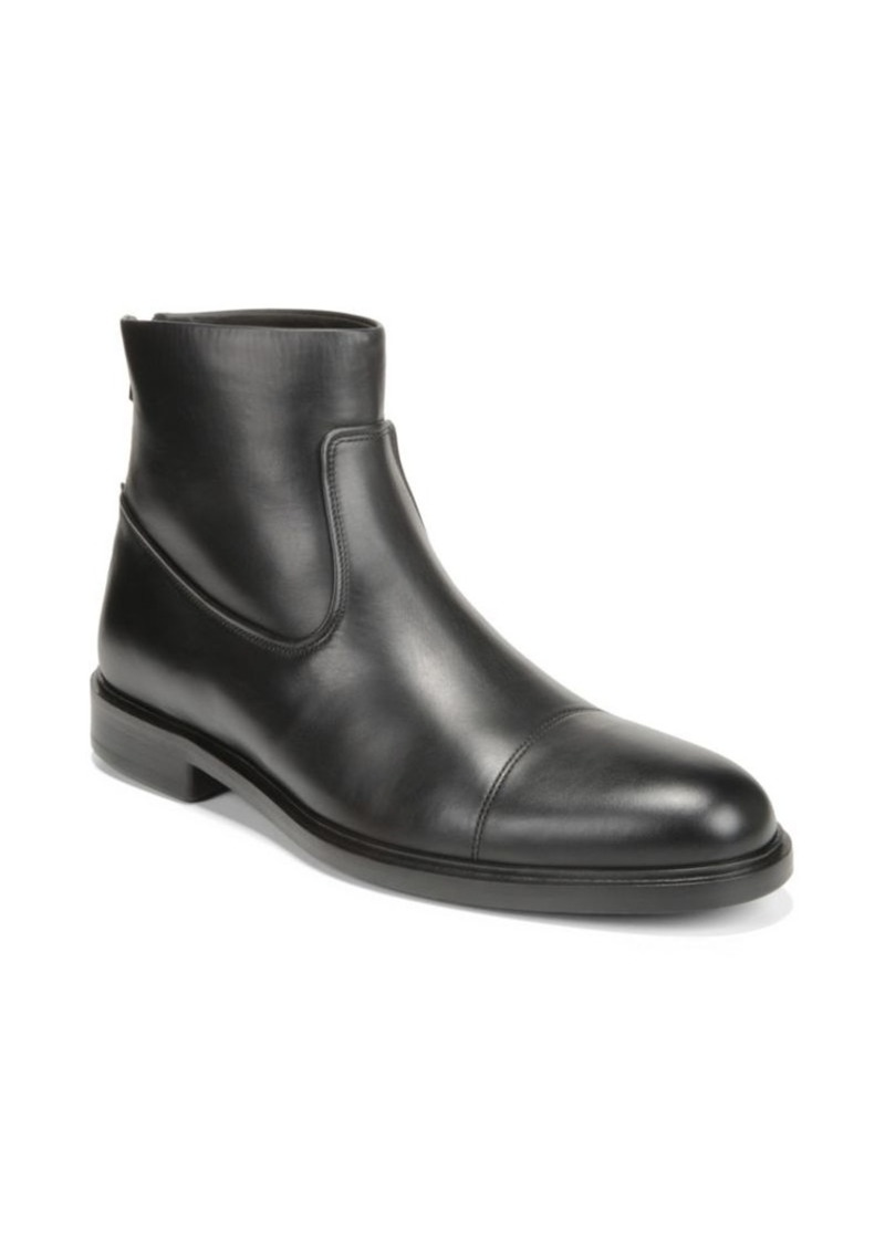 Vince Beckett Leather Cap Toe Ankle Boots