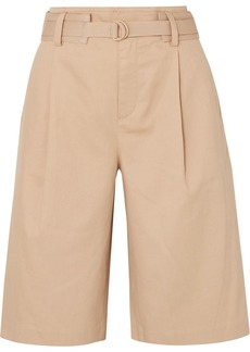 Vince Belted Cotton-blend Twill Shorts