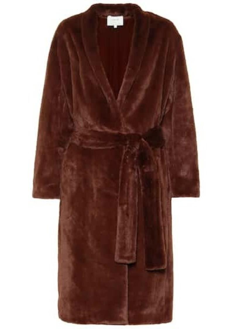 Vince Belted faux fur coat