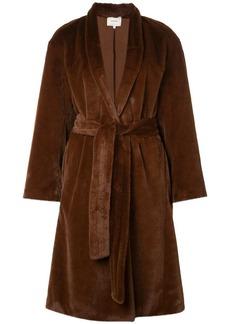 Vince belted faux-fur coat