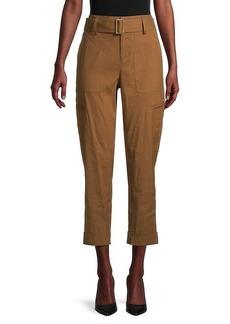 Vince Belted Linen-Blend Pants