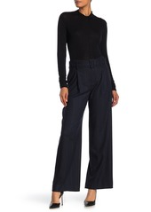 Vince Belted Pinstripe Trousers (Regular & Plus Size)