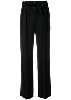 Vince belted pleated trousers