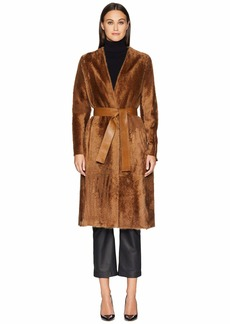 Vince Belted Shearling Coat
