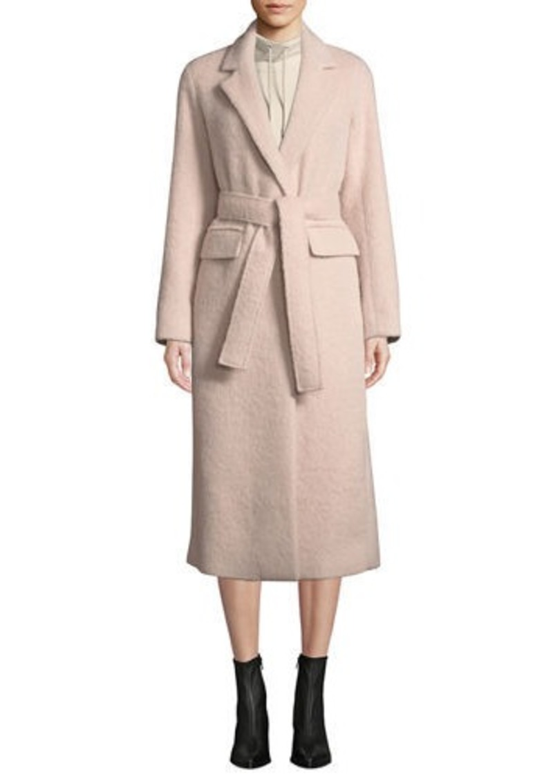 Vince Belted Single-Button Wool-Blend Long Coat