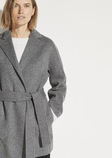 Vince Belted Wool Cardigan Coat