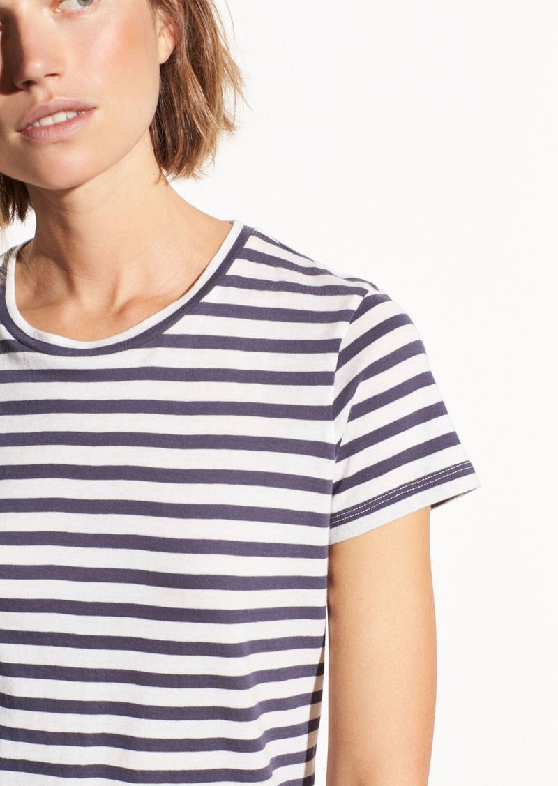 Vince Bengal Stripe Essential Cotton Crew