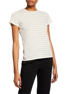 Vince Bengal Stripe Essential Cotton T-Shirt