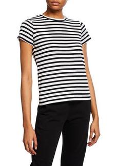 Vince Bengal Stripe Essential Cotton T-Shirt