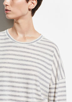 Vince Bengal Stripe Long Sleeve Crew