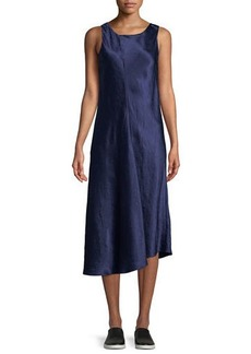 Vince Bias-Cut Sleeveless Midi Dress