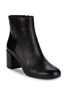 Vince Blakely Leather Block Heel Booties/2.5""