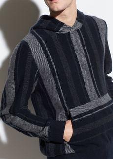 Vince Boiled Cashmere Baja Stripe Hoodie