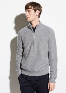 Vince Boiled Cashmere Half-Zip Pullover