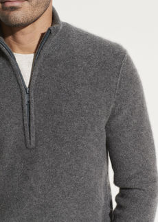 Vince Boiled Cashmere Half Zip Sweater