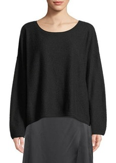 Vince Boiled Cashmere Scoop-Neck Sweater