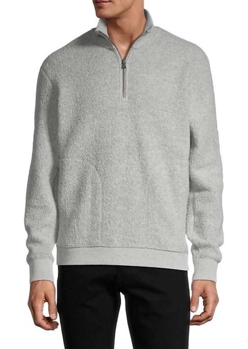 Vince Boucle Quarter-Zip Wool-Blend Sweater