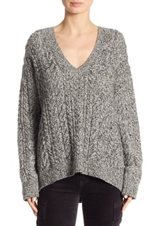 Vince Braided V-Neck Sweater