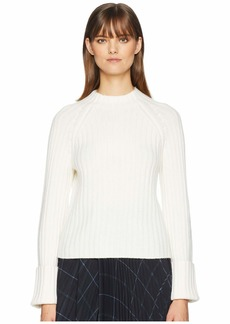 Vince Button Cuff Mock Neck